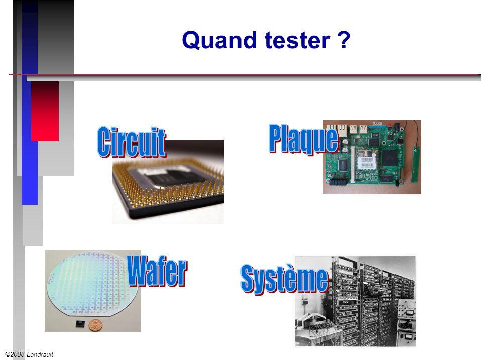 ©2008 Landrault Quand tester ?