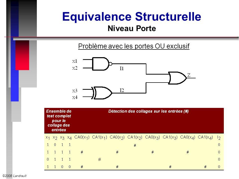 ©2008 Landrault Equivalence Structurelle Niveau Porte Problème avec les portes OU exclusif