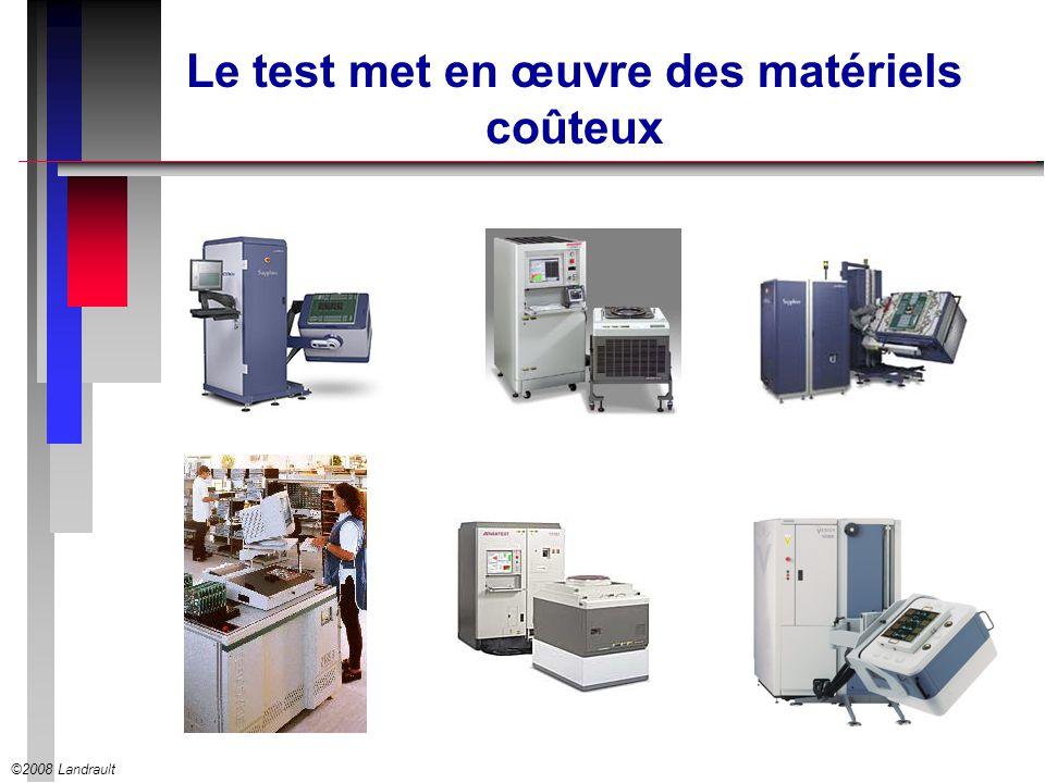 ©2008 Landrault Le test met en œuvre des matériels coûteux