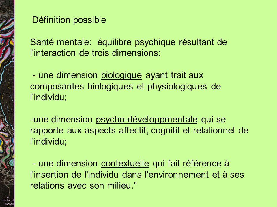 Psychisme, Ensemble des fonctions qui permettent à l organisme à la fois de maintenir la constance du Moi et d établir avec le monde extérieur des échanges significatifs et adaptés tant sur le plan émotionnel que comportemental.