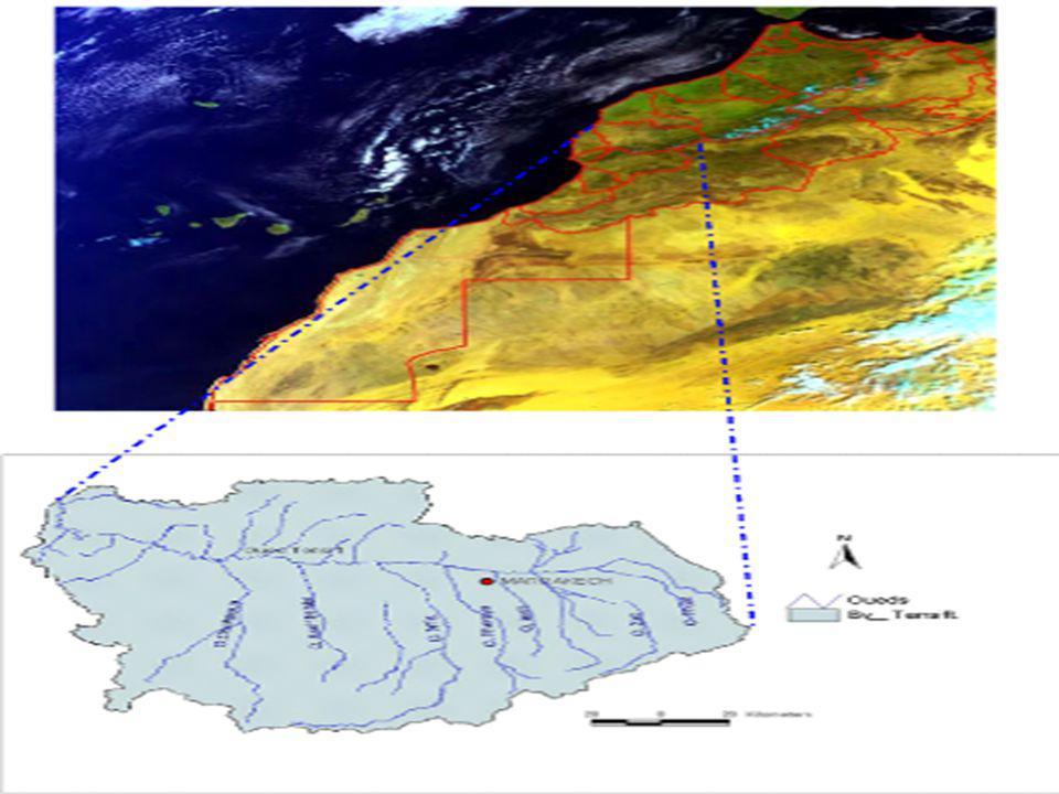 Impact des Changements Climatiques (CC) sur les climats et les Ressources en Eau (RE) des bassins versants de Tensift et Bouregreg 13