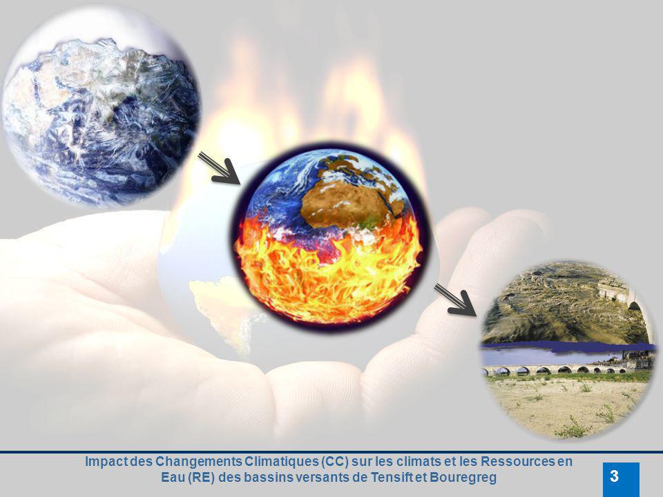 Impact des Changements Climatiques (CC) sur les climats et les Ressources en Eau (RE) des bassins versants de Tensift et Bouregreg 3