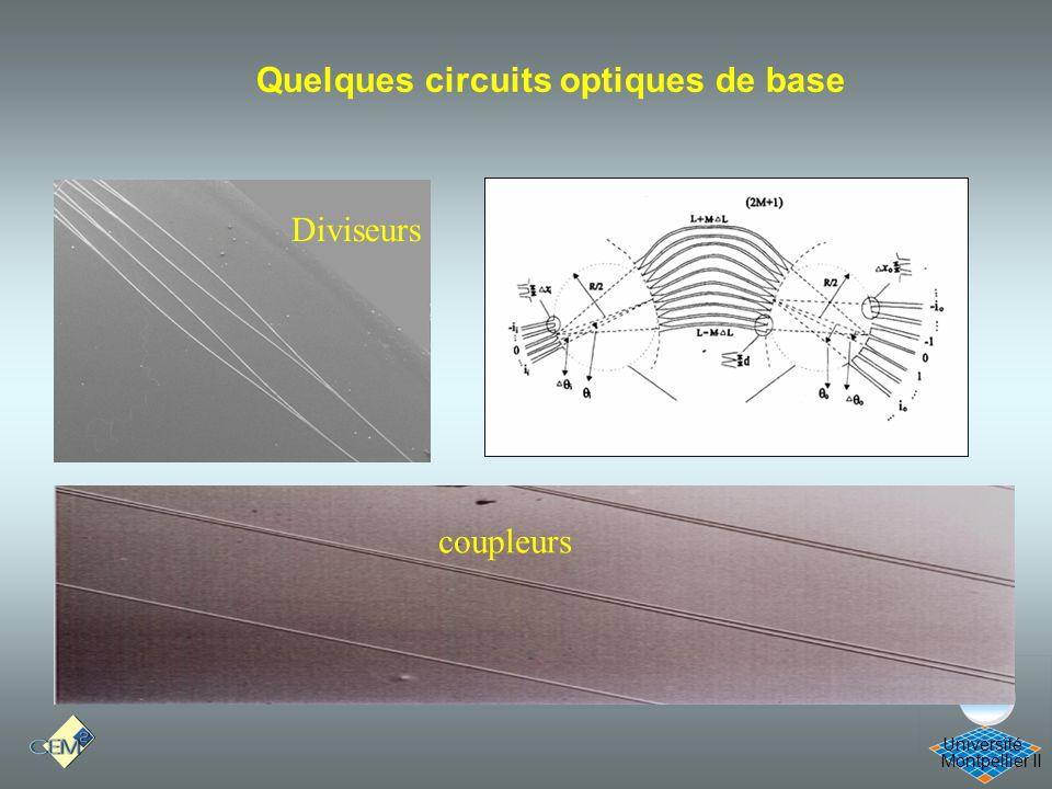 Montpellier II Université Diviseurs Quelques circuits optiques de base coupleurs