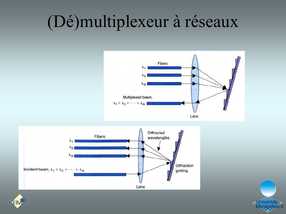 Montpellier II Université (Dé)multiplexeur à réseaux