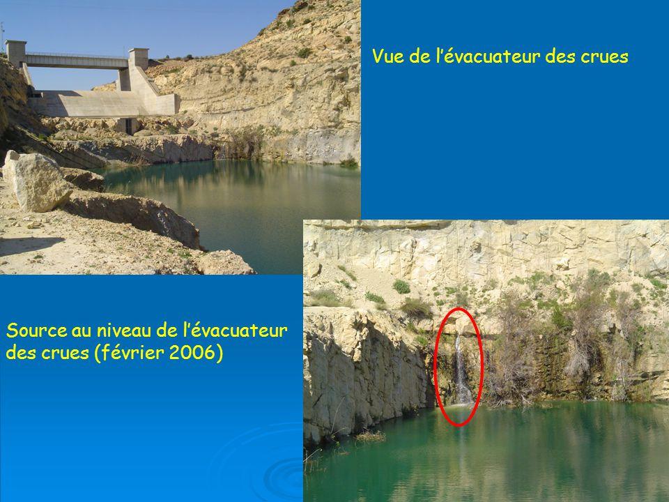 Vue de lévacuateur des crues Source au niveau de lévacuateur des crues (février 2006)