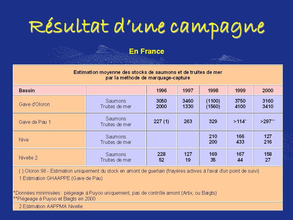 Résultat dune campagne En France