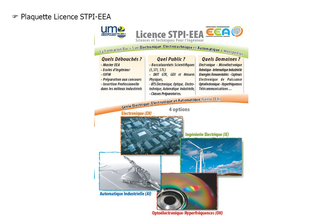 Plaquette Licence STPI-EEA
