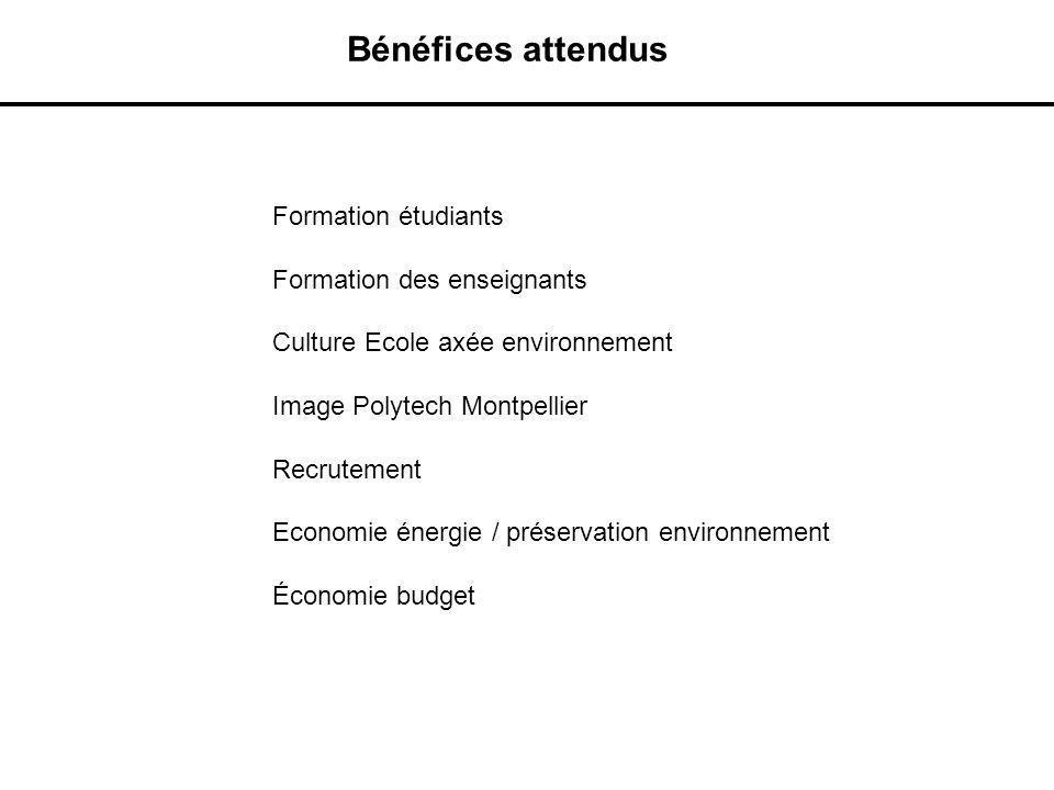 Formation étudiants Formation des enseignants Culture Ecole axée environnement Image Polytech Montpellier Recrutement Economie énergie / préservation