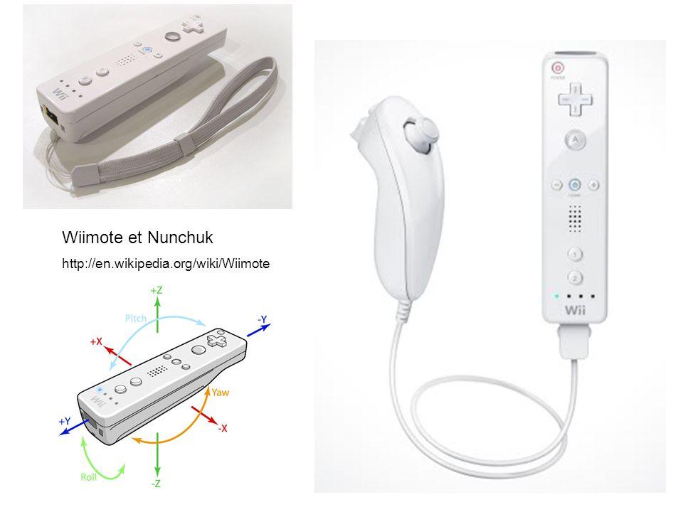 Wiimote et Nunchuk http://en.wikipedia.org/wiki/Wiimote