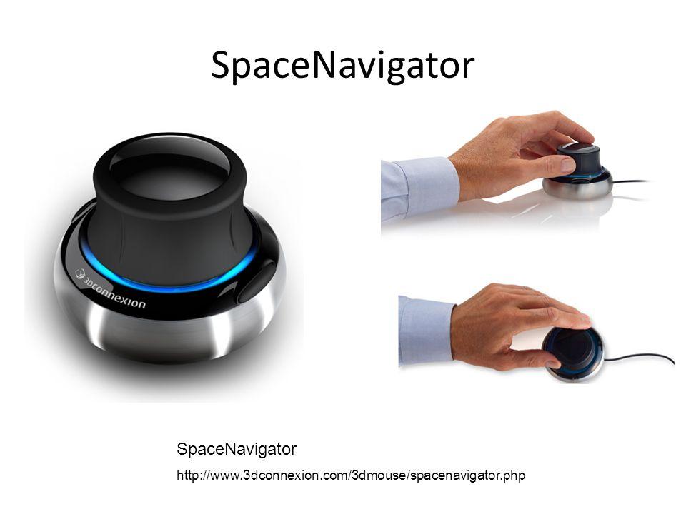 SpaceNavigator http://www.3dconnexion.com/3dmouse/spacenavigator.php SpaceNavigator