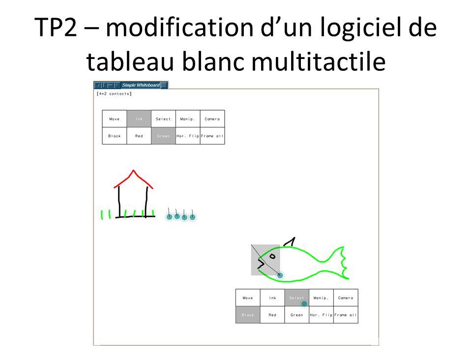 TP2 – modification dun logiciel de tableau blanc multitactile