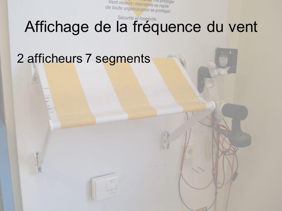 Affichage de la fréquence du vent 2 afficheurs 7 segments