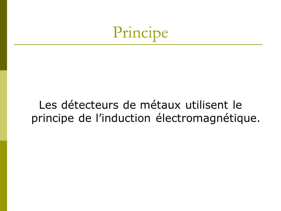 Principe Les détecteurs de métaux utilisent le principe de linduction électromagnétique.