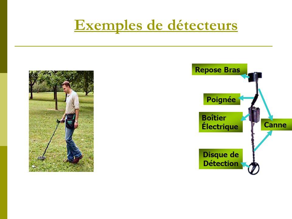 Exemples de détecteurs Repose Bras Canne Poignée Boîtier Électrique Disque de Détection