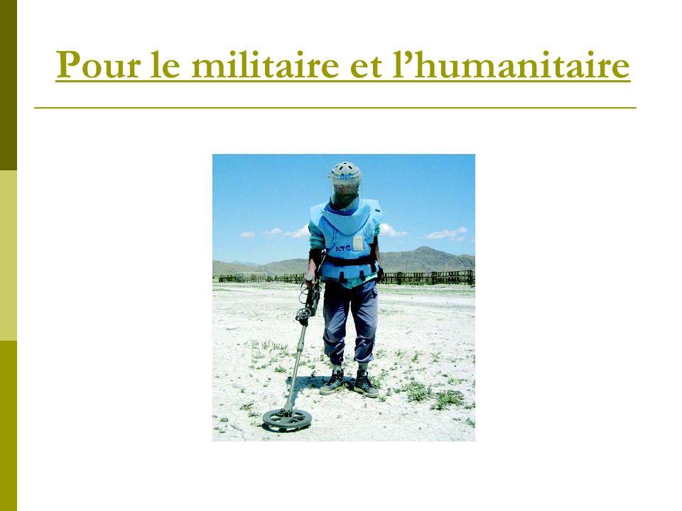 Pour le militaire et lhumanitaire