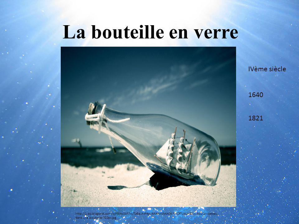 La bouteille en verre http://1.bp.blogspot.com/-yjPNmx5b57w/Ta8auFJP4pI/AAAAAAAAAE4/K4QfTU6uh80/s1600/un-bateau- dans-une-bouteille-720px.jpg IVème si