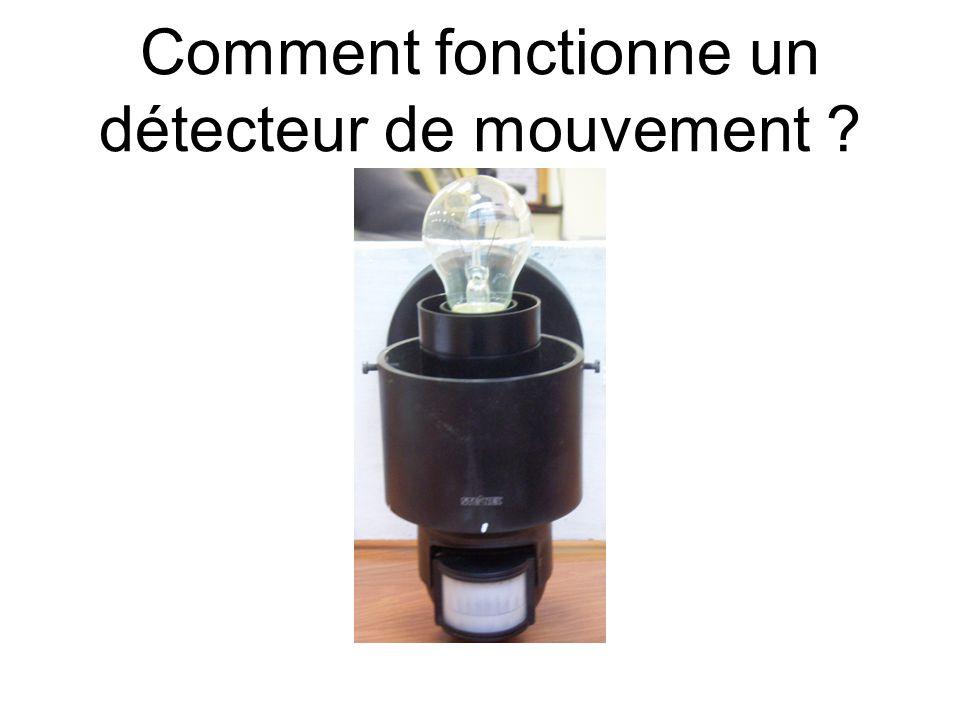 Comment fonctionne un détecteur de mouvement ?