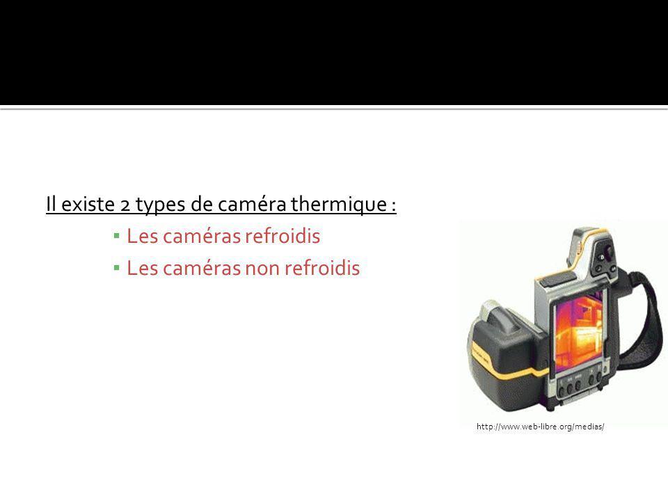 Il existe 2 types de caméra thermique : Les caméras refroidis Les caméras non refroidis http://www.web-libre.org/medias/