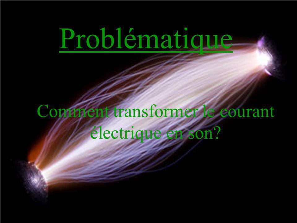 Problématique Comment transformer le courant électrique en son?