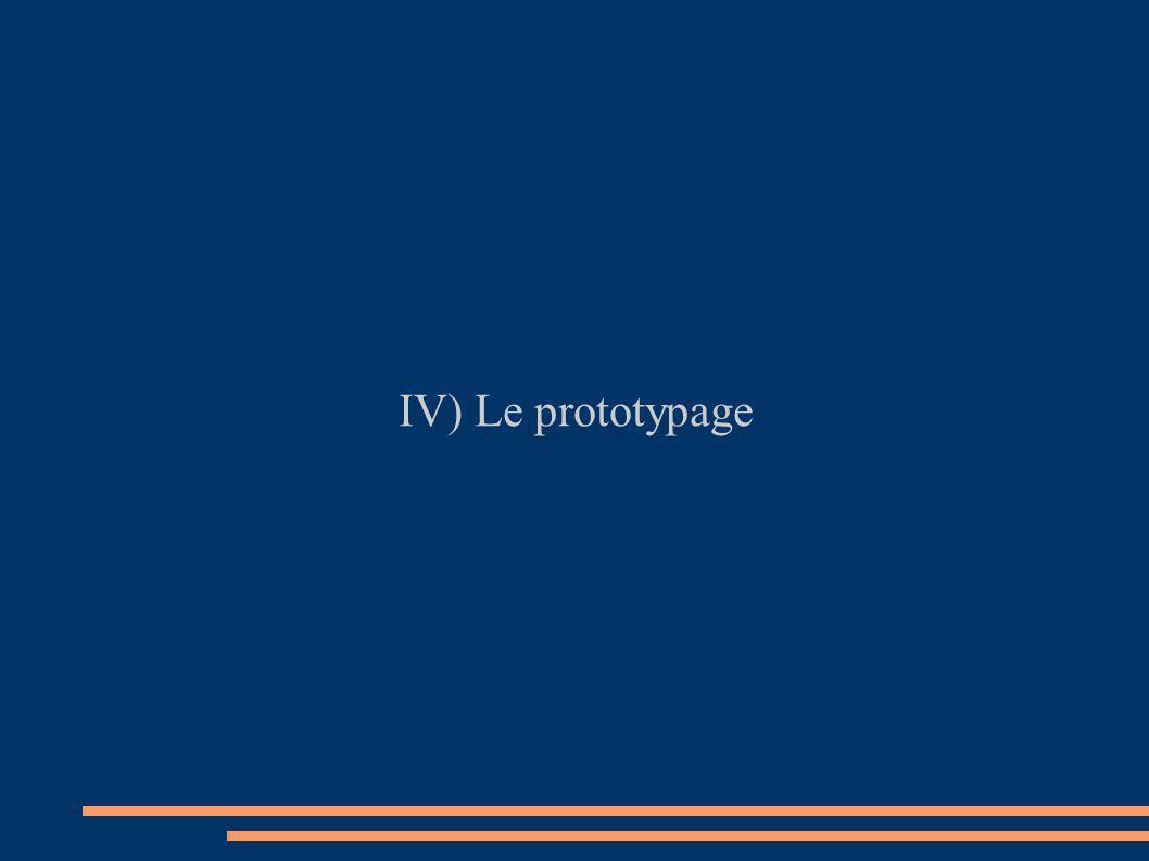 IV) Le prototypage