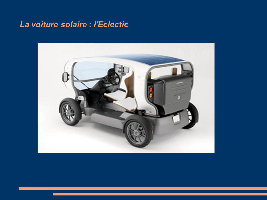 La voiture solaire : l'Eclectic