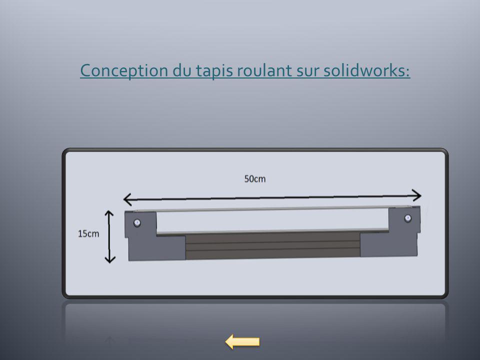Conception du tapis roulant sur solidworks: