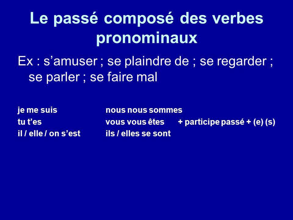 Le passé composé des verbes pronominaux Robert ________________ (sinstaller) dans le train.