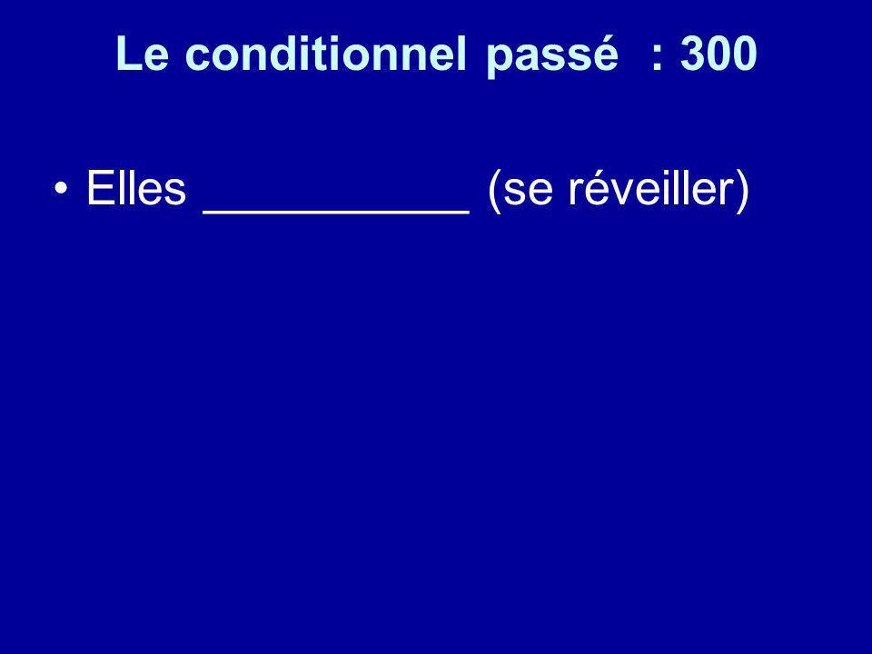 Le conditionnel passé : 300 Elles __________ (se réveiller)
