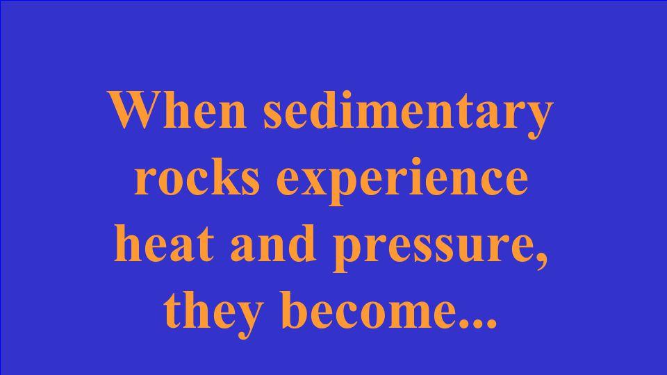 ...sedimentary rocks.