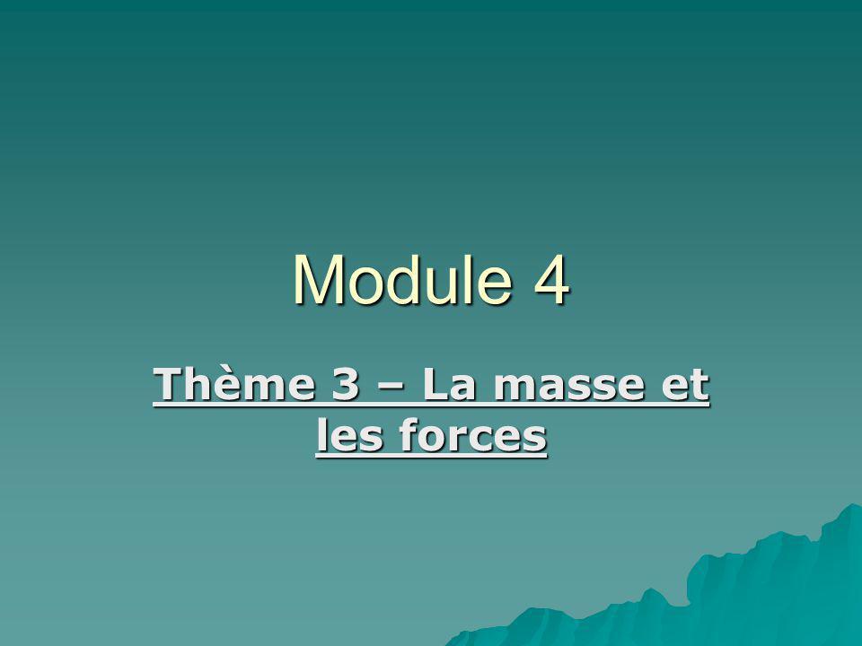 Module 4 Thème 3 – La masse et les forces