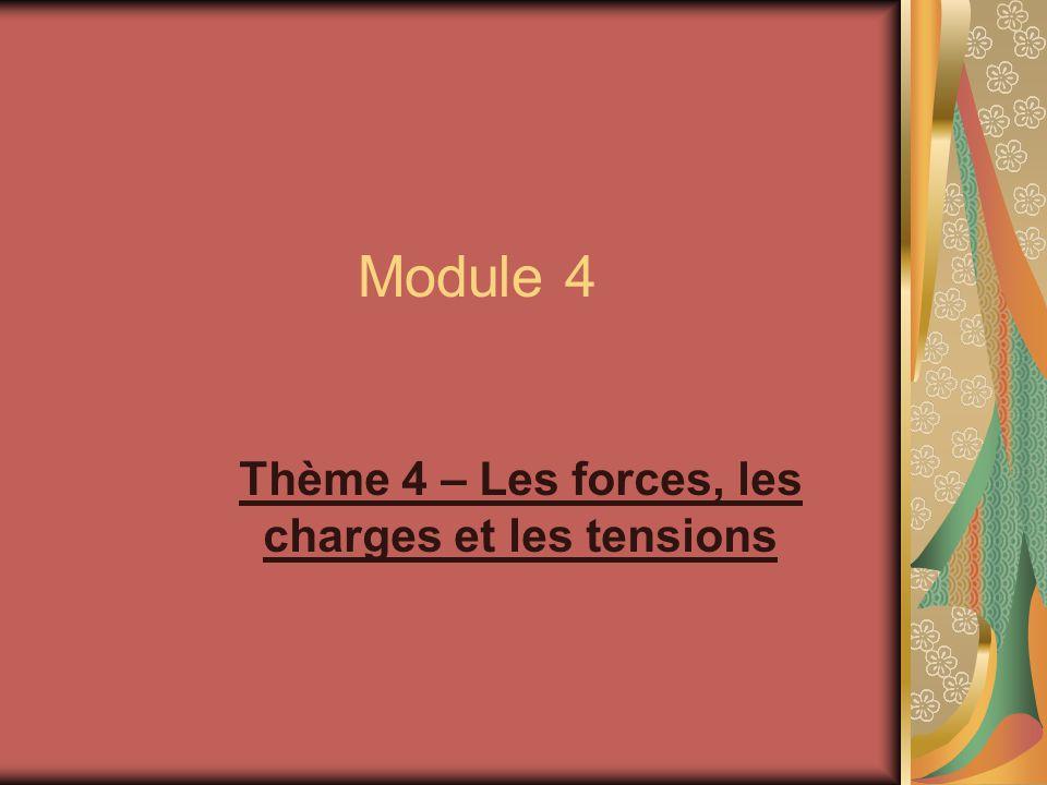 Module 4 Thème 4 – Les forces, les charges et les tensions