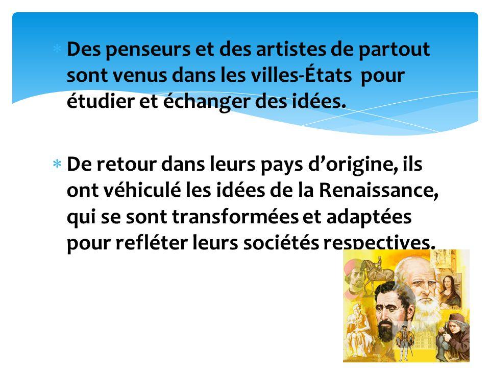 Linfluence de la renaissance est plus remarqué dans le domaine des arts: la peinture, la sculpture, larchitecture.