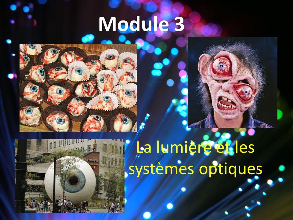 Module 3 La lumière et les systèmes optiques
