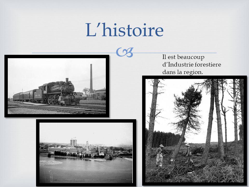 Lhistoire Il est beaucoup dIndustrie forestiere dans la region.