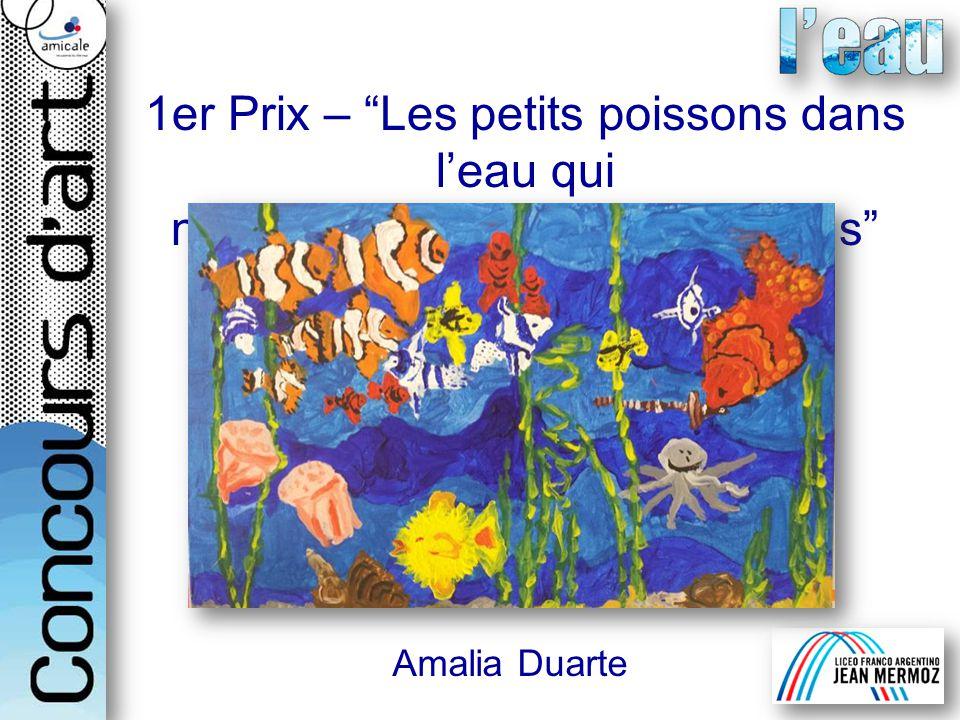 1er Prix – Les petits poissons dans leau qui nagent aussi bienque les grands Amalia Duarte