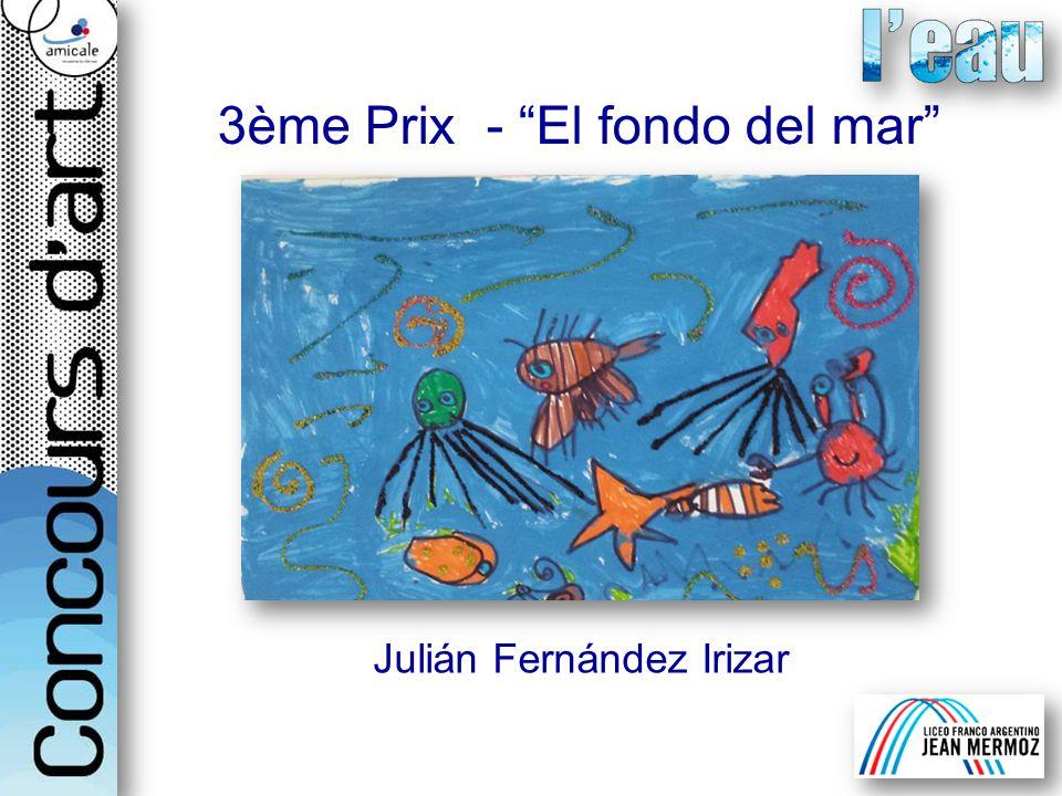 Julián Fernández Irizar 3ème Prix - El fondo del mar