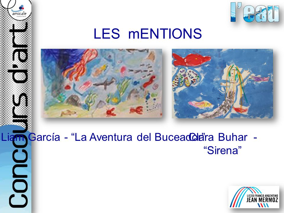 LES mENTIONS Liam García - La Aventura del BuceadorClara Buhar -Sirena