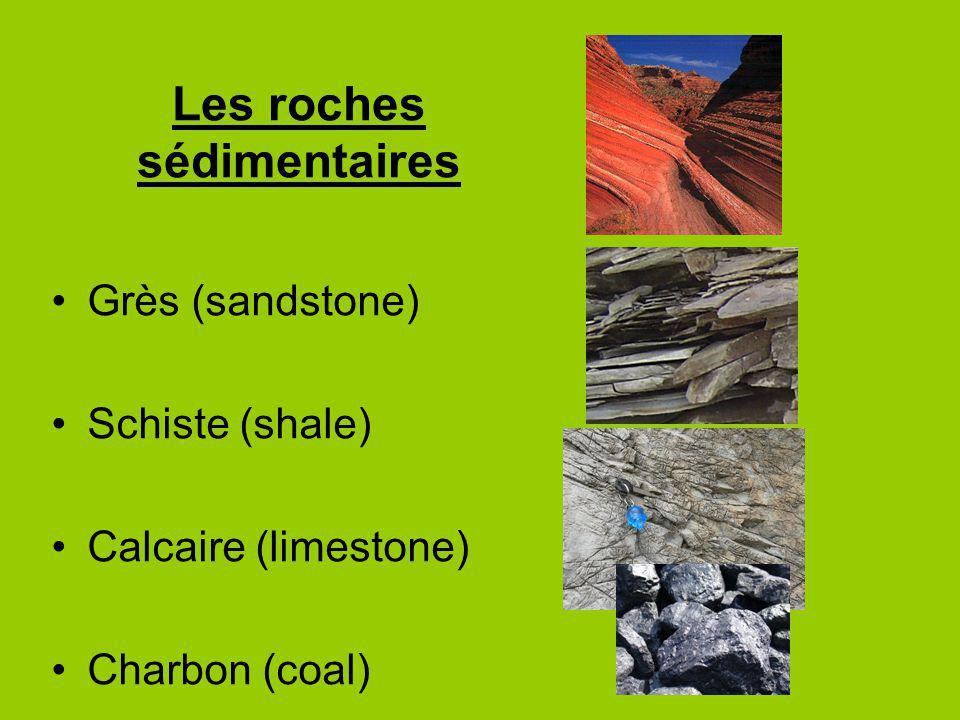 Grès (sandstone) Schiste (shale) Calcaire (limestone) Charbon (coal)