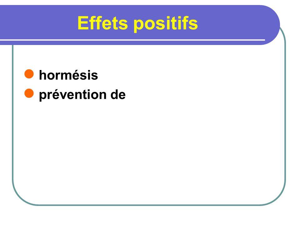 Effets positifs hormésis prévention de