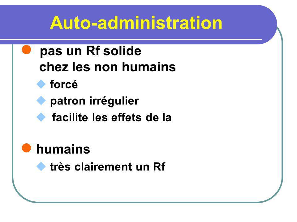 Auto-administration pas un Rf solide chez les non humains forcé patron irrégulier facilite les effets de la humains très clairement un Rf