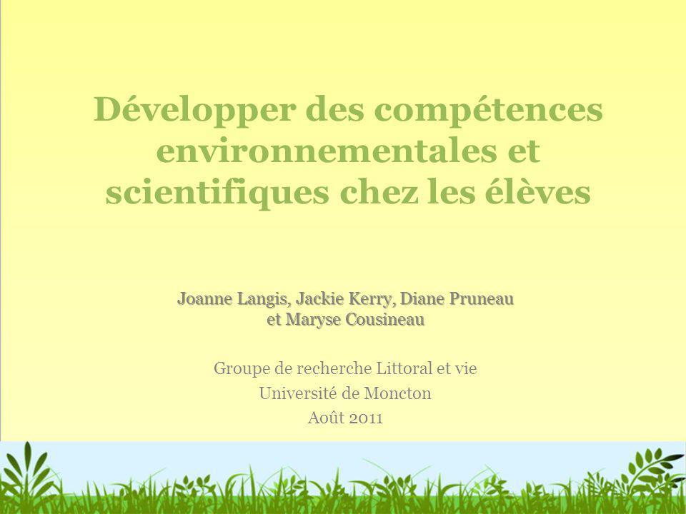 Un programme centré sur la résolution de problèmes et destiné aux élèves de 3 e et 4 e année pour les éduquer au problème de la sédimentation dans les cours deau.