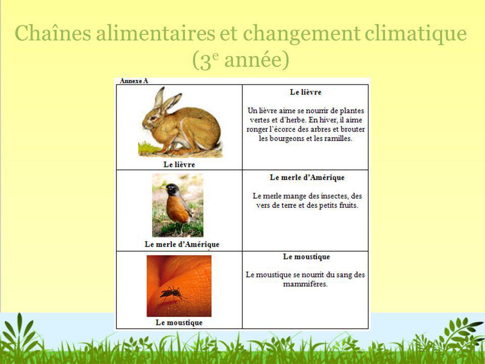 Chaînes alimentaires et changement climatique (3 e année)