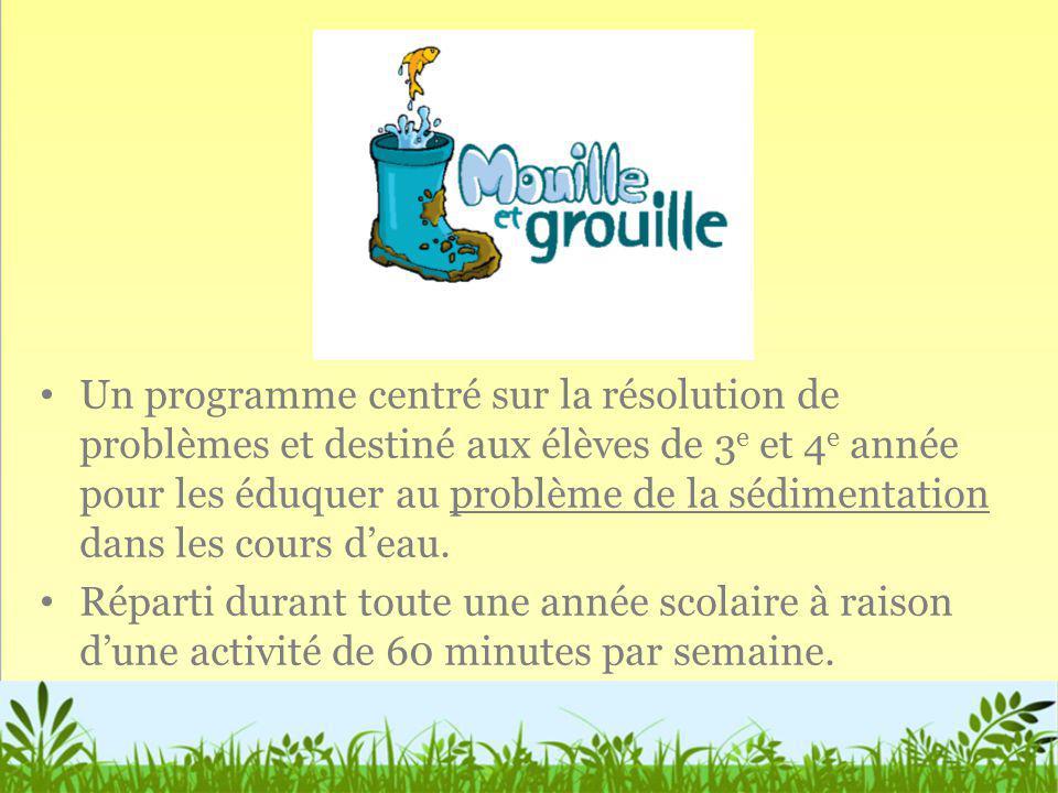 Un programme centré sur la résolution de problèmes et destiné aux élèves de 3 e et 4 e année pour les éduquer au problème de la sédimentation dans les
