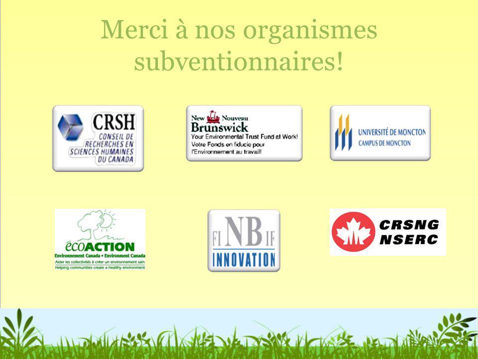 Merci à nos organismes subventionnaires!