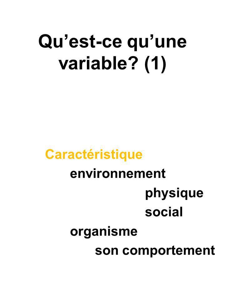 Quest-ce quune variable.