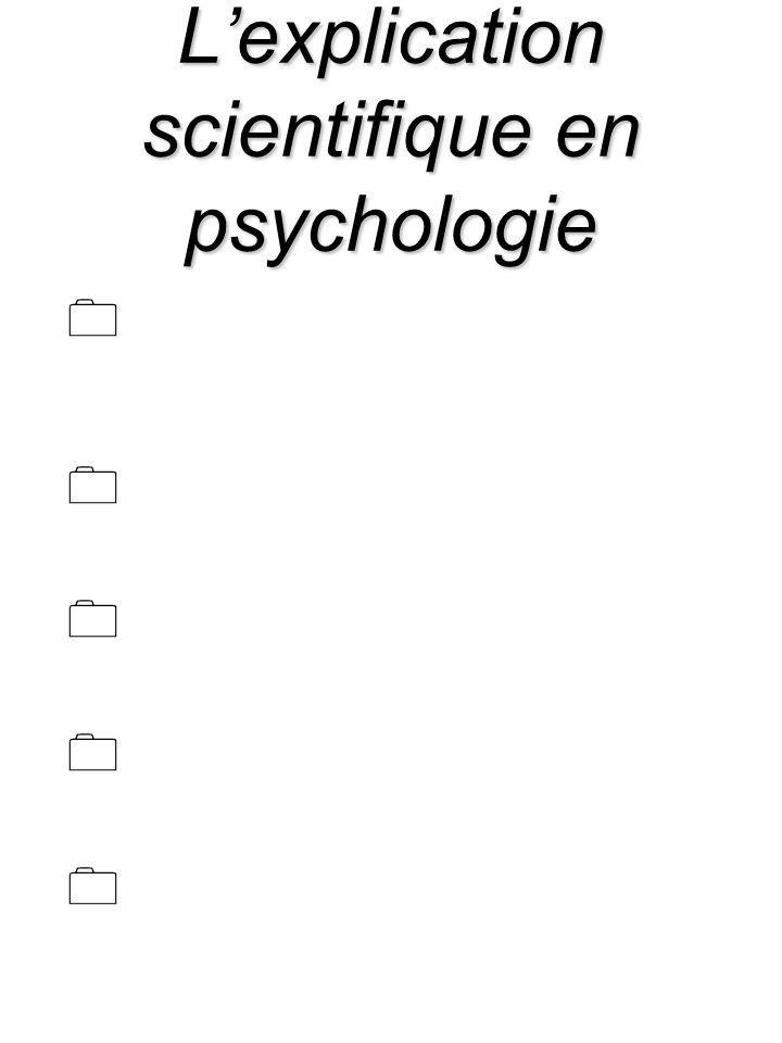 Lexplication scientifique en psychologie