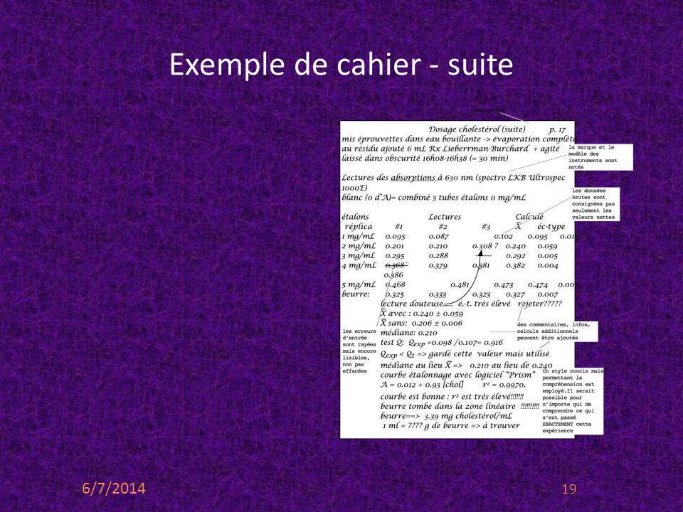 Exemple de cahier - suite 6/7/2014 19