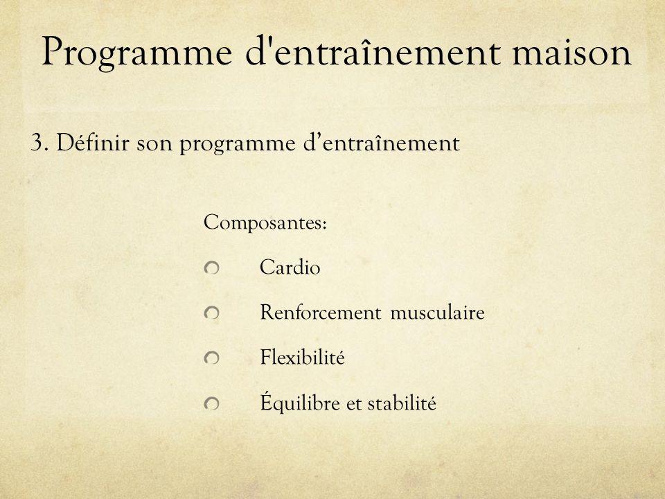 Programme d entraînement maison 3.