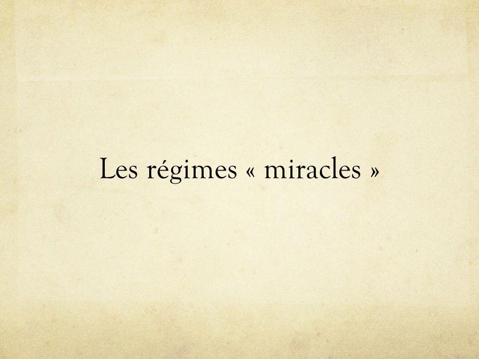 Les régimes « miracles »