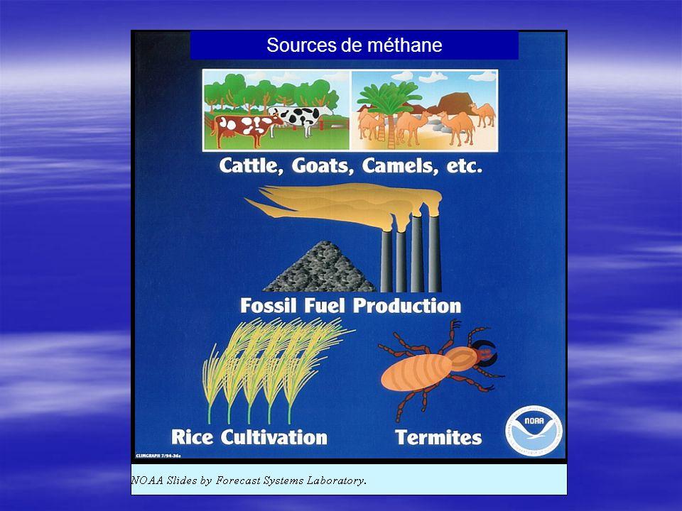 Sources de méthane